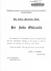 Cover of: Sir John Oldcastle