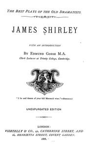Cover of: James Shirley | James Shirley