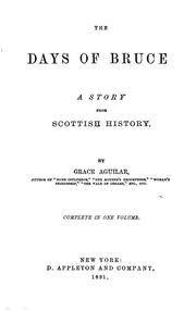 Cover of: The days of Bruce