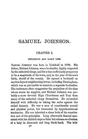 Cover of: Samuel Johnson | Sir Leslie Stephen