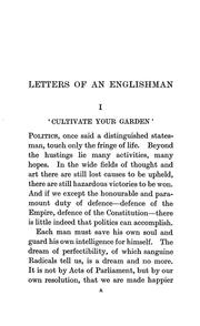Cover of: The letters of an Englishman