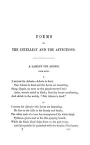 Cover of: Poems of the intellect and the affections | Elizabeth Barrett Browning