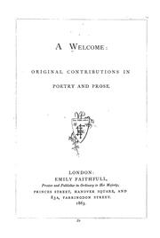 Cover of: A Welcome