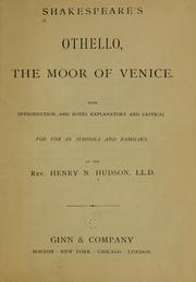 Shakespeare's Othello, the Moor of Venice by William Shakespeare