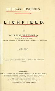 Cover of: Lichfield. | William Beresford