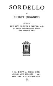 Cover of: Sordello | Robert Browning