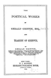 Cover of: Poetical works and Tragedy of Gisippus
