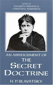 Cover of: Abridgement of the Secret Doctrine (Quest Books)
