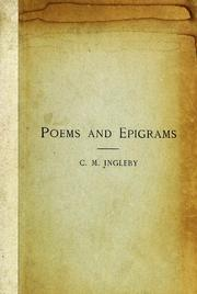 Cover of: Poems and epigrams | Clement Mansfield Ingleby