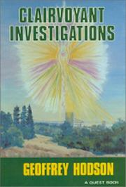 Cover of: Clairvoyant Investigations (Quest Book) | Geoffrey Hodson