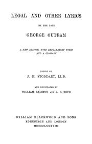 Cover of: Legal and other lyrics | George Outram