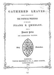 Cover of: Gathered leaves | Frank E. Smedley