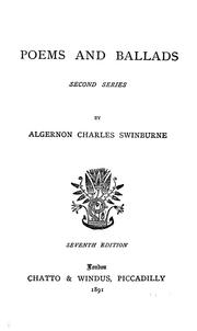Cover of: Poems and ballads by Algernon Charles Swinburne