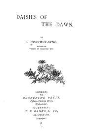 Cover of: Daisies of the dawn. | L. Cranmer-Byng