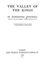 Cover of: The valley of the kings | Marmaduke William Pickthall
