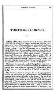 Cover of: Gazetteer and business directory of Tompkins county, N.Y., for 1868