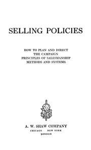 Cover of: Selling policies |