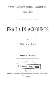 Cover of: Fraud in accounts |