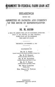 Federal Farm Loan Act Amendment to Federal f...