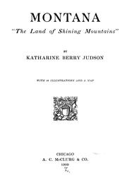 Cover of: Montana | Katharine Berry Judson