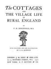 Cover of: The cottages and the village life of rural England