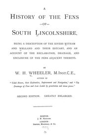 Cover of: A history of the fens of south Lincolnshire by Wheeler, William H.