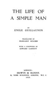 Cover of: The life of a simple man