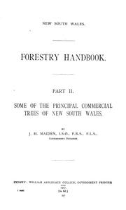 Cover of: Forestry handbook ... | New South Wales. Dept. of Lands. Forestry branch.