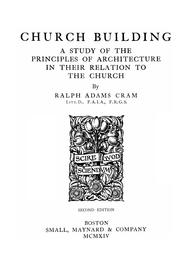 Cover of: Church building | Ralph Adams Cram