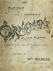 Cover of: Ancient and modern ornaments | William Helburn