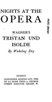 Cover of: Wagner