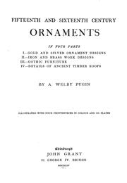 Fifteenth and sixteenth century ornaments