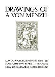 Cover of: Drawings of A. von Menzel | Adolph Menzel