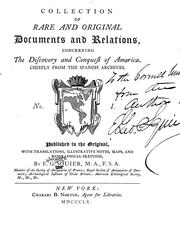 Cover of: Collection of rare and original documents and relations, concerning the discovery and conquest of America