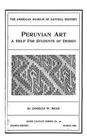Cover of: Peruvian art as shown on textiles and pottery | Charles Williams Mead
