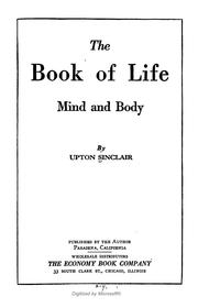 Cover of: The book of life | Upton Sinclair