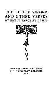 Cover of: The little singer | Emily Sargent Lewis