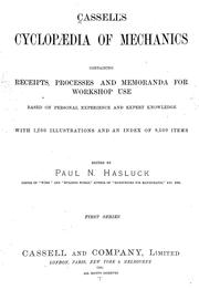 Cover of: Cassell's cyclopaedia of mechanics | Paul N. Hasluck