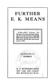 Cover of: Further E. K. Means | E. K. Means