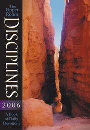 Cover of: Upper Room Disciplines 2006: A Book of Daily Devotions (Upper Room Disciplines: A Book of Daily Devotions)