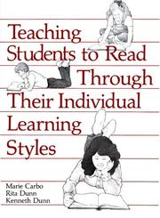 Cover of: Teaching students to read through their individual learning styles