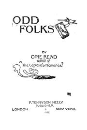 Cover of: Odd folks | Opie Percival Read