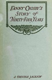 Cover of: Fanny Crosby's story of ninety-four years