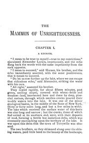 Cover of: The mammon of unrighteousness