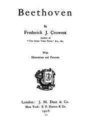 Cover of: Beethoven | Frederick James Crowest