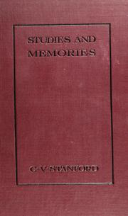 Cover of: Studies and memories | Charles Villiers Stanford