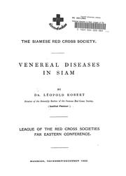 Cover of: Venereal diseases in Siam | Jean Yole