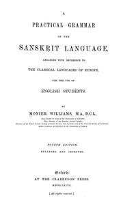 Cover of: A practical grammar of the Sanskrit language