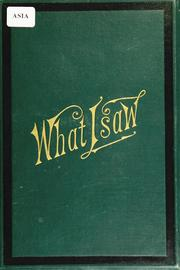 Cover of: Notes of what I saw, and how I saw it | Loring Converse