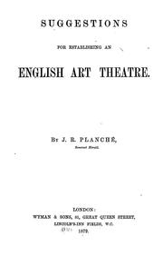 Cover of: Suggestions for establishing an English art theatre